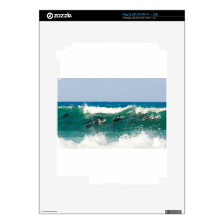 Surfing dolphins iPad 2 skins
