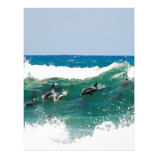 Surfing dolphins letterhead