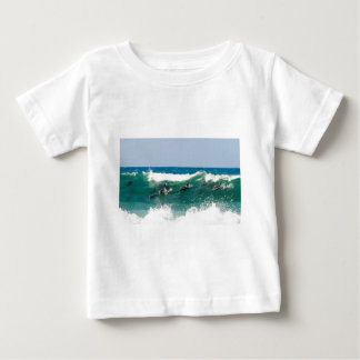 Surfing dolphins tee shirt