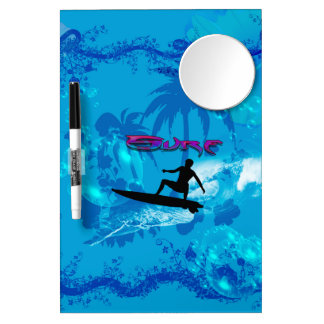 Surfing Dry Erase Board With Mirror