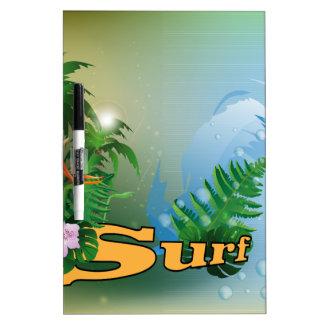 Surfing Dry-Erase Whiteboard