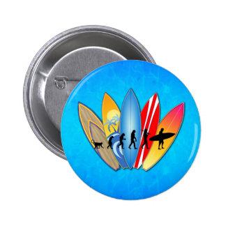 Surfing Evolution 2 Inch Round Button