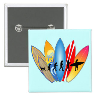 Surfing Evolution 2 Inch Square Button