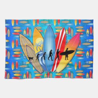 Surfing Evolution Kitchen Towel