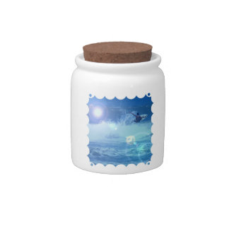 Surfing Extreme Candy Jar