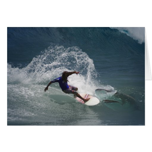 Surfing Ferinds Greeting Card