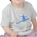Surfing Figure - Baby Blue Shirt