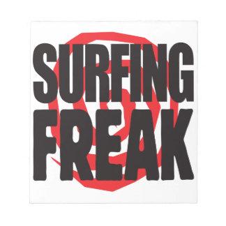 Surfing Freak Memo Notepads