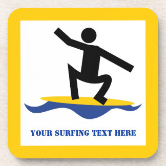Surfing gifts, surfer on his surfboard custom coaster