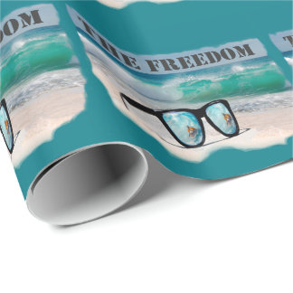 surfing gifts wrapping paper