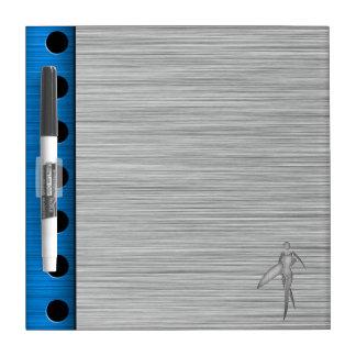 Surfing Girl; Brushed Metal-look Dry Erase Whiteboard