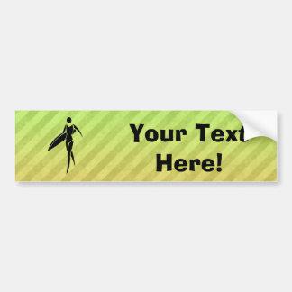 Surfing Girl Bumper Sticker