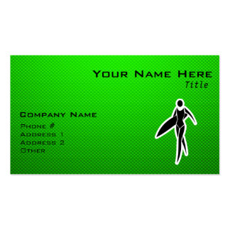 Surfing Girl Business Card Templates