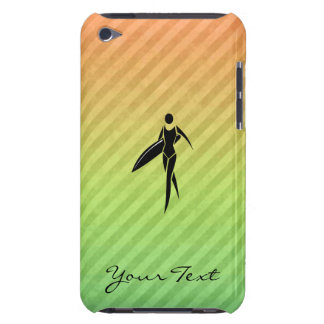 Surfing Girl Barely There iPod Cases