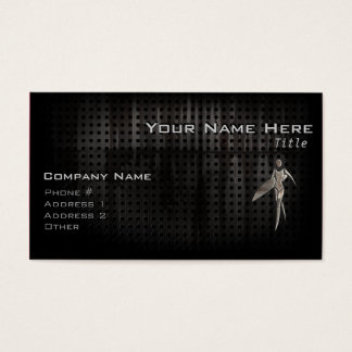 Surfing Girl; Cool Business Card