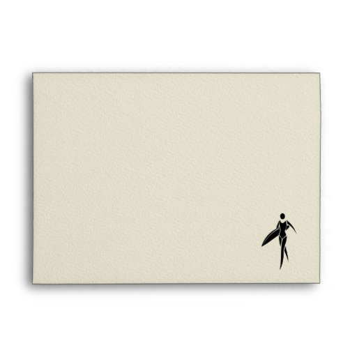 Surfing Girl Envelopes
