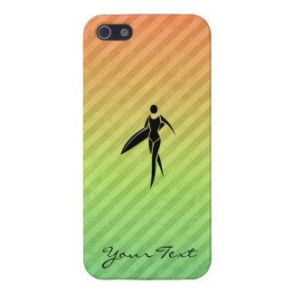 Surfing Girl iPhone 5 Cases