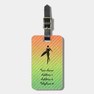 Surfing Girl Tag For Luggage