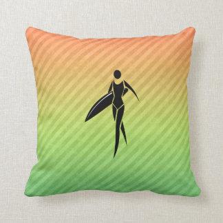 Surfing Girl Pillows