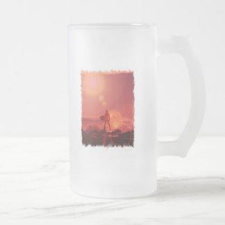 Surfing God  Frosted Beer Mug
