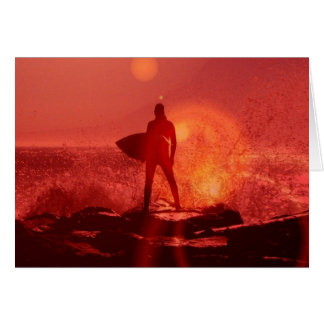 Surfing God  Greeting Cards