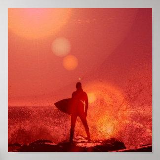 Surfing God Poster