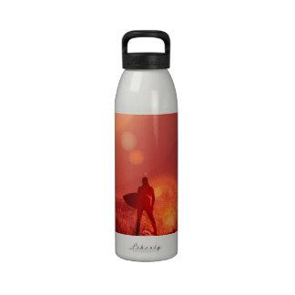 Surfing God Water Bottle