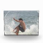 Surfing Grab Acrylic Award