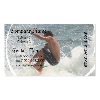 Surfing Grab Business Cards