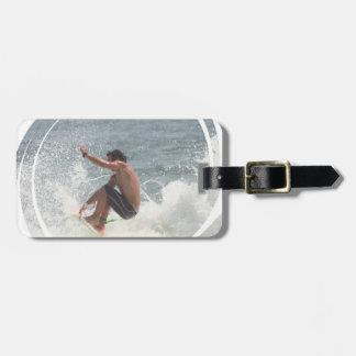 Surfing Grab  Luggage Tag