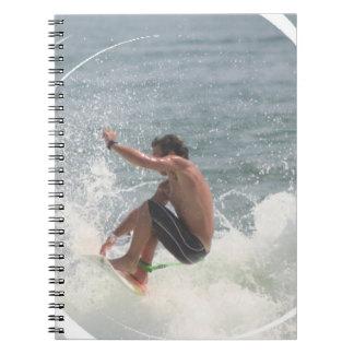 Surfing Grab Notebook