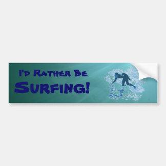 Surfing Graphic Bumper Sticker