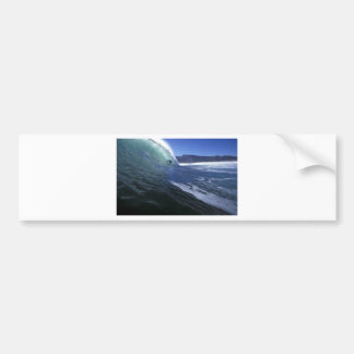 Surfing green tube ride South Africa Bumper Sticker