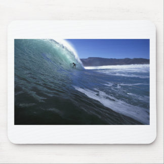 Surfing green tube ride South Africa Mouse Pad