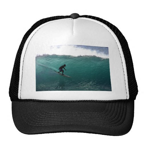 Surfing green wave Bali Trucker Hat