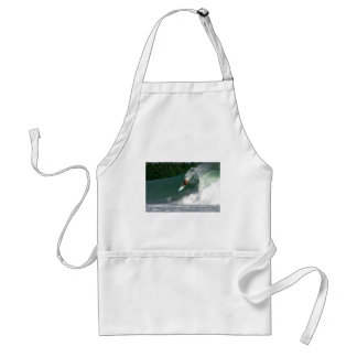 Surfing green wave tropical paradise island aprons