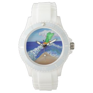 Surfing Guardian Angel Rapheal Custom Watch Design