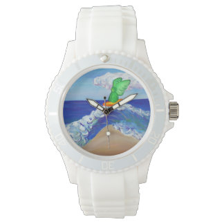 Surfing Guardian Angel Rapheal Custom Watch Design