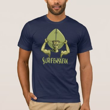 Beach Themed Surfing Halloween Frankenstein T-Shirt