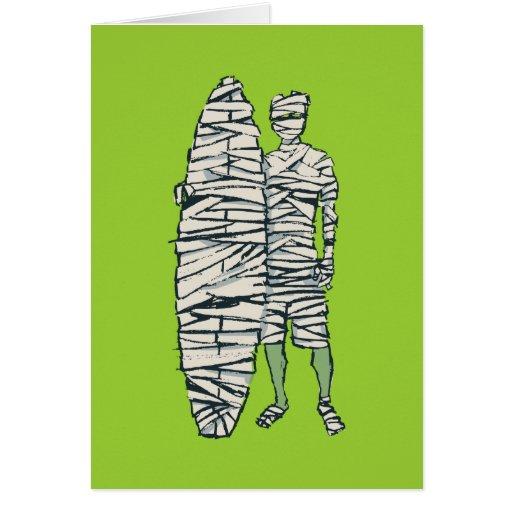 Surfing Halloween Mummy Cards