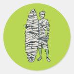 Surfing Halloween Mummy Stickers