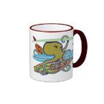 Surfing Halloween Octopus Coffee Mugs