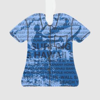 Surfing Hawaii Cutback Hawaiian Aloha Shirt Ornament