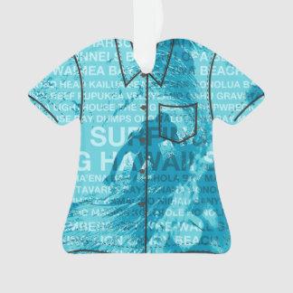 Surfing Hawaii Green Room Hawaiian Aloha Shirt Ornament