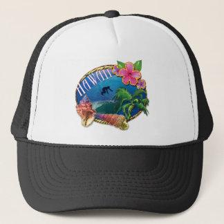 Surfing Hawaii Trucker Hat