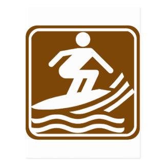 Surfing Highway Sign Postcard