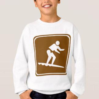 Surfing Highway Sign Sweatshirt