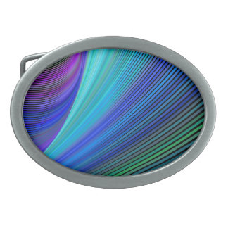 Surfing in a magic wave oval belt buckle