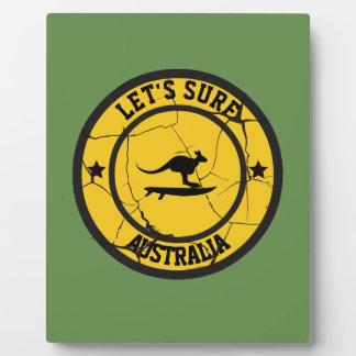 SurfinginAustralia Plaque