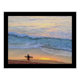 Surfing in Baja Mexico Poster